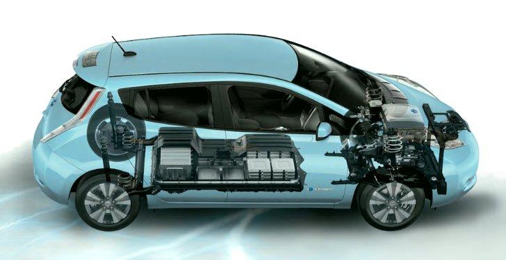 Батарея и силовая установка Nissan Leaf ZE0 - 2011 - 2017