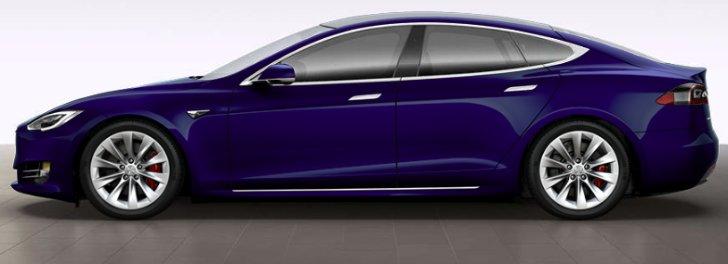 Deep Blue Metallic Tesla Model S