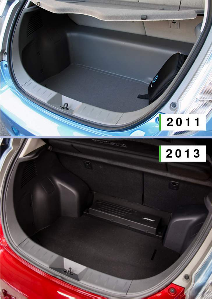 Trunk Nissan Leaf 2011 vs 2013