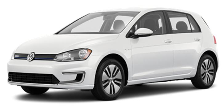 VolksWagen E-GOLF vs competitors