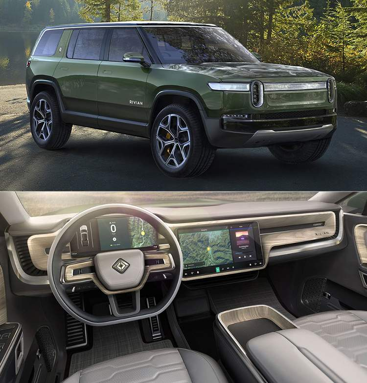 Rivian R1S electric cross