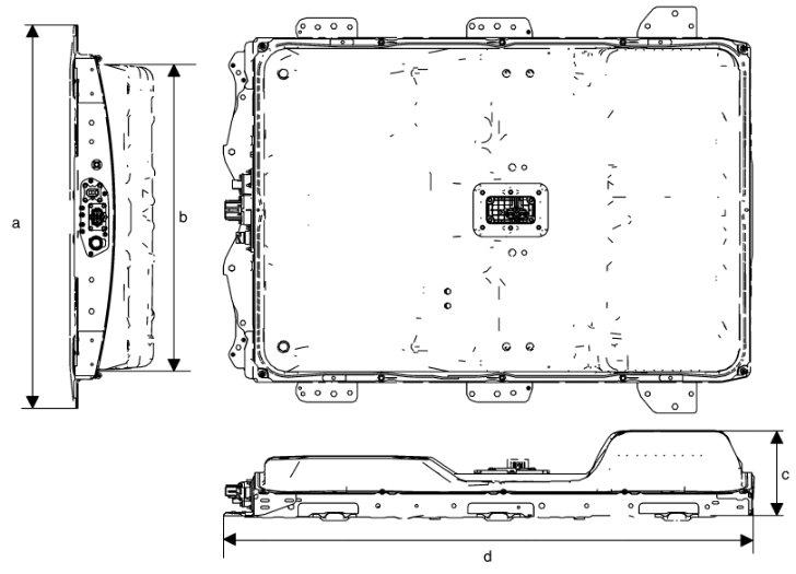 Емкость и размеры батареи Nissan Leaf ZE0