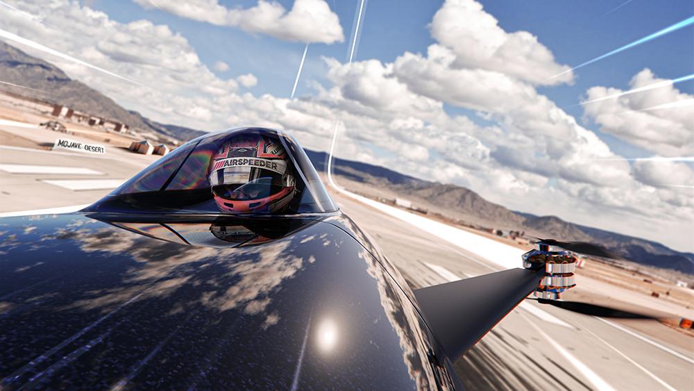 электрический гоночный болид Alauda Airspeeder Mk3